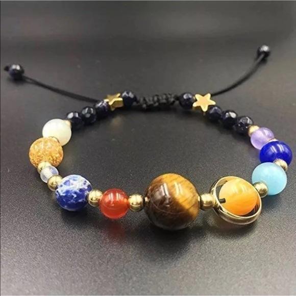 Jewelry - Solar System Space Galaxy Bracelet planets